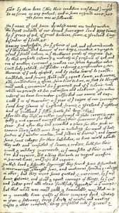 Bradford Transcription of the Mayflower Compact