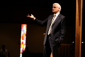 Ravi Zacharias answers a question