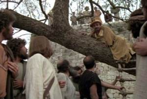 Zacchaeus - evil tax collector turned instrument of Jesus