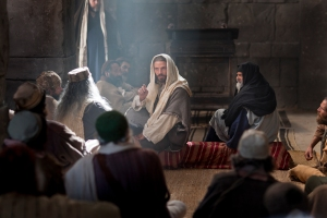 Jesus teaches Isaiah in the synagogue