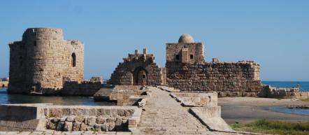 Sea citadel of Saida, Lebanon, of Ancient Sidon