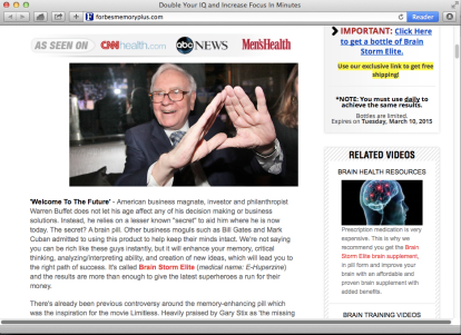 Warren Buffet? Really?