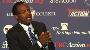 Carson addressing