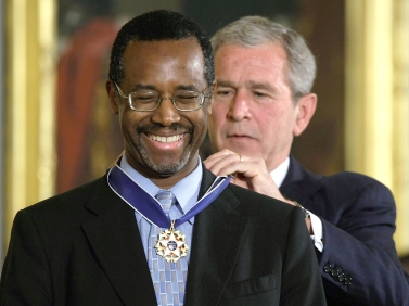 U.S. President George W. Bush Presidential Medal of Freedom to Carson