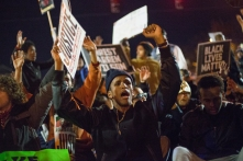 Boston, Mass., protesters of Grand Jury clearing Officer Darren Wilson